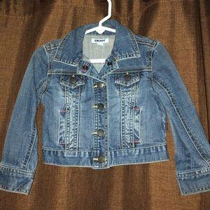 EUC DKNY Little Girls Jean Jacket Size 3T